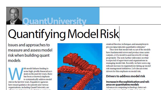 Quantifying Model Risk: Wilmott Magazine Article - Wilmott